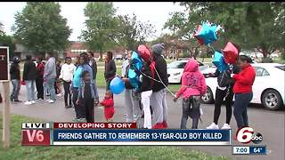 Friends of 13-year-old shot and killed organize vigil - Video
