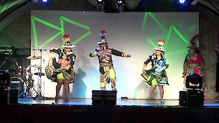 Bolivian traditional dance show in Chile