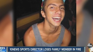 10news sports director loses family member in fire