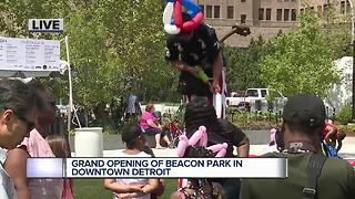 Grand opening of Beacon Park in Detroit - Video