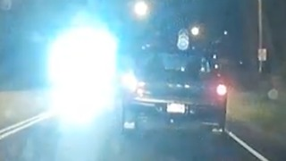 Dangerous Blinding Hi Beam Car Headlights  - Video