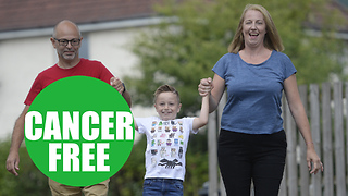Youngest boy to be diagnosed with liver cancer is now finally 'cancer free' - Video
