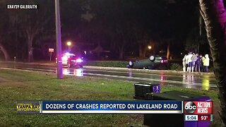 Dozens of accidents reported on Lakeland road