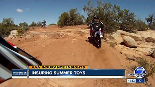 Insuring summer toys like ATVS, jet skis, motorbikes