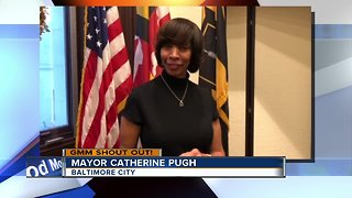 Good morning from Mayor Catherine Pugh!