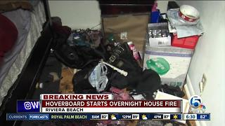 Charging hoverboard sparks Riviera Beach house fire - Video