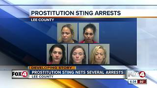 15 arrests made in Lee County prostitution sting - Video