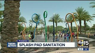How do Valley splash pads stay sanitary? - Video