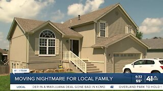 Moving nightmare for local family
