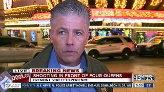 Shooting at Fremont Street Experience - Video