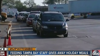 Feeding Tampa Bay planning to feed 3,000 families today - Video