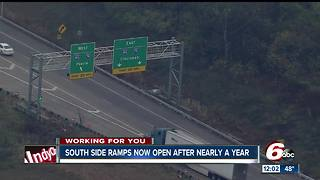 I-465/I-65 south side ramps open after nearly a year - Video
