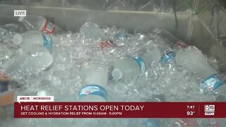 Heat relief stations open in the Valley