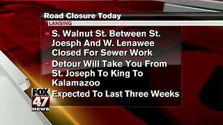 Road closure in downtown Lansing to last 3 weeks
