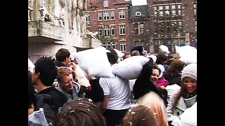 Big Dutch Pillow Fight - Video