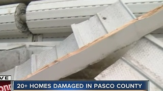Homes damaged in Pasco County - Video