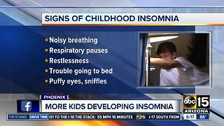 Doctors say more kids are developing insomnia