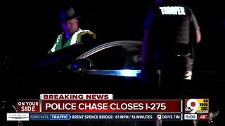 Police chase closes I-275 in Anderson Township - Video