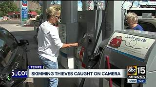 Credit card skimming thieves caught on surveillance camera