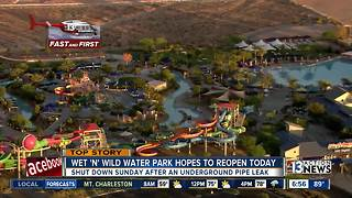 Wet 'n' Wild closed on Sunday because of leak - Video