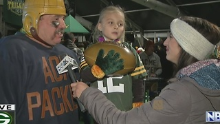 Interview with Packers fans at Lambeau pep rally