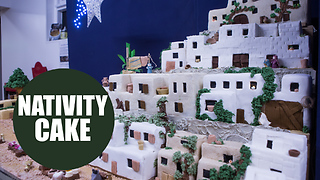 Master baker makes jaw-dropping nativity scene from a whopping 100kg of marzipan and icing - Video
