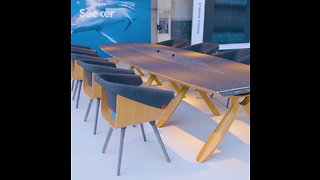 Plastic Whale Turns Plastic Waste into High End Furniture