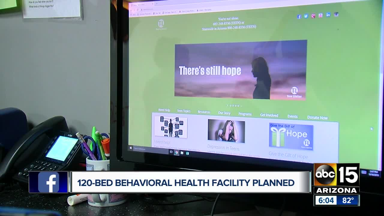 120 bed behavioral health facility planned for east Valley