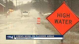 Crews work on flooded areas of Waukesha County - Video
