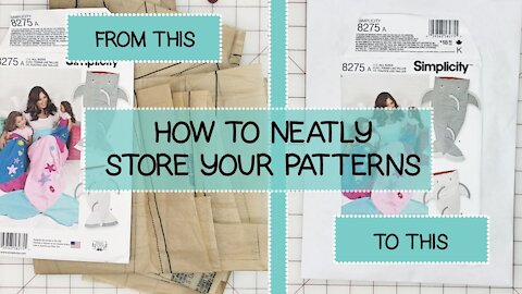 How to Neatly Store Your Sewing Patterns
