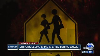 Warning from Aurora police about spike in reported child luring cases