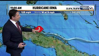11 a.m. Saturday Hurricane Irma advisory