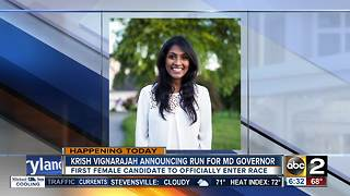 Vignarajah announcing campaign for Governor today - Video