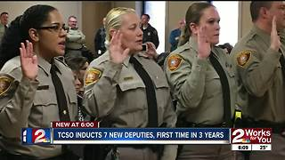 TCSO Inducts 7 New Deputies; First Time in 3 Years - Video