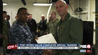 Local sailor completes special training Fort Myers