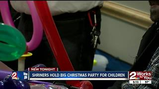 Shriners hold big Christmas party for children - Video