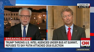 Rand Paul Sides With Trump Over Us Intel - Video
