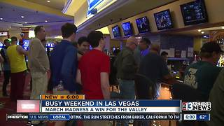 Sports books kick off busy March Madness weekend - Video