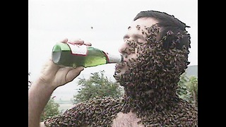 Drinking Beer Covered In Bees - Video