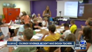 Colorado governor: We don't have enough teachers - Video