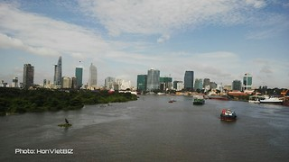 Saigon River in Southern Vietnam - Video