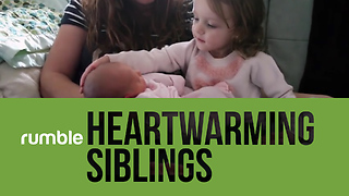 Adorable Footage Of Cute Siblings