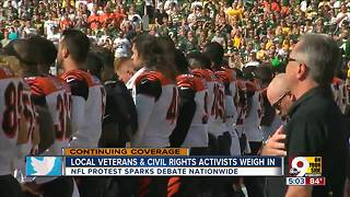 Local veteran, civil rights activist weigh in on NFL protests - Video