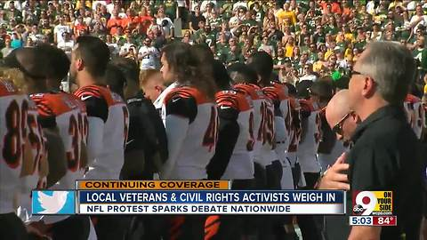 Local veteran, civil rights activist weigh in on NFL protests