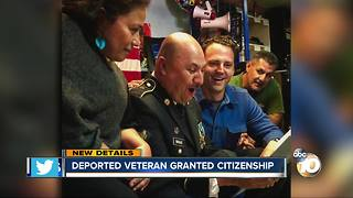 Deported veteran granted citizenship