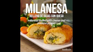 Milanese Stuffed with Rajas with Cheese