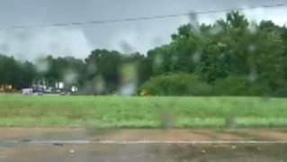Possible Tornado Spotted Over Brookhaven, Mississippi - Video