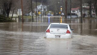 Parts Of Kentucky Face Flooding After Heavy Rainfall