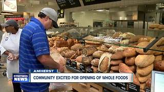 Whole Foods opens in Amherst - Video