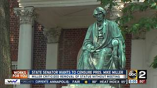 Democrat: Censure Senate president over Taney statue letter - Video